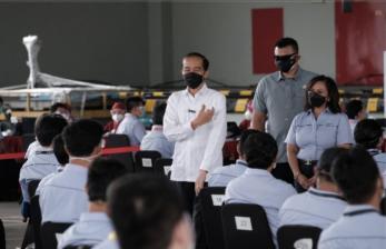 Hadir di Unilever, Jokowi Apresiasi Vaksinasi Gotong Royong