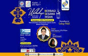 Bantu Sesama di Ramadhan, UBSI Pontianak Gelar <em>Workshop</em>