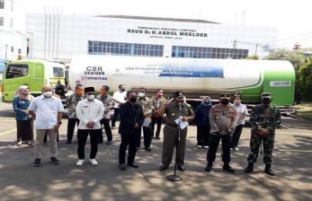 Polda Kawal Truk Tangki Oksigen ke Lampung