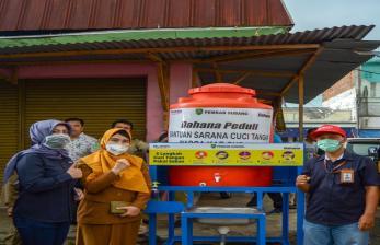 Pedagang Pasar Pujasera Subang Miliki Sarana Cuci Tangan