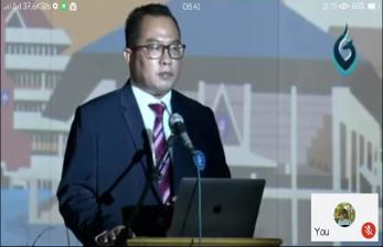 Positif Covid-19 Rektor IPB Tetap Beri Sambutan Acara