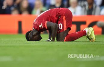 <em>Live</em>; Mane Bawa Liverpool Sementara Unggul 1-0 atas Palace