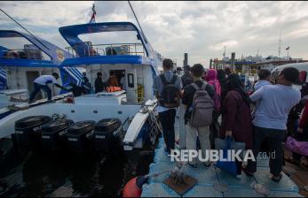 In Picture: Penyeberangan ke Kepulauan Seribu Usai PPKM Diperpanjang