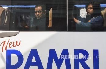 Penumpang Naik Bus Damri Juga Wajib Pakai Masker
