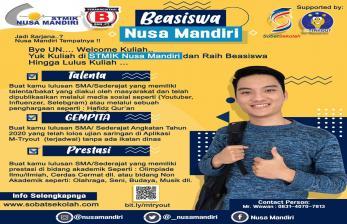 Atlet Berprestasi Bisa Raih Beasiswa di STMIK Nusa Mandiri