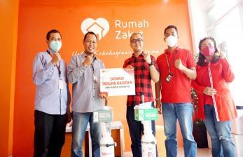 Rumah Zakat dan Telkomsel Poin Donasikan Tabung Oksigen