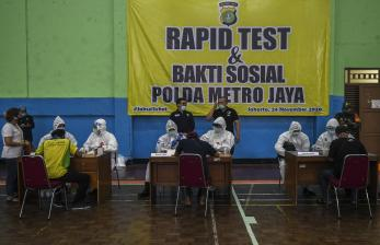 Rapid Test Massal Polda Metro di Petamburan Nihil Covid-19
