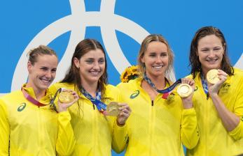 Australia Cetak Rekor Dunia Lewat estafet 4x100 Gaya Bebas