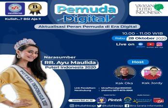 Sambut Sumpah Pemuda, UBSI Gelar Webinar Pemuda Digital