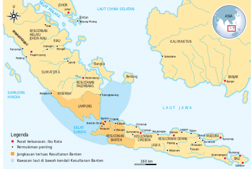 (ilustasi) Kesultanan Banten pada masa jaya