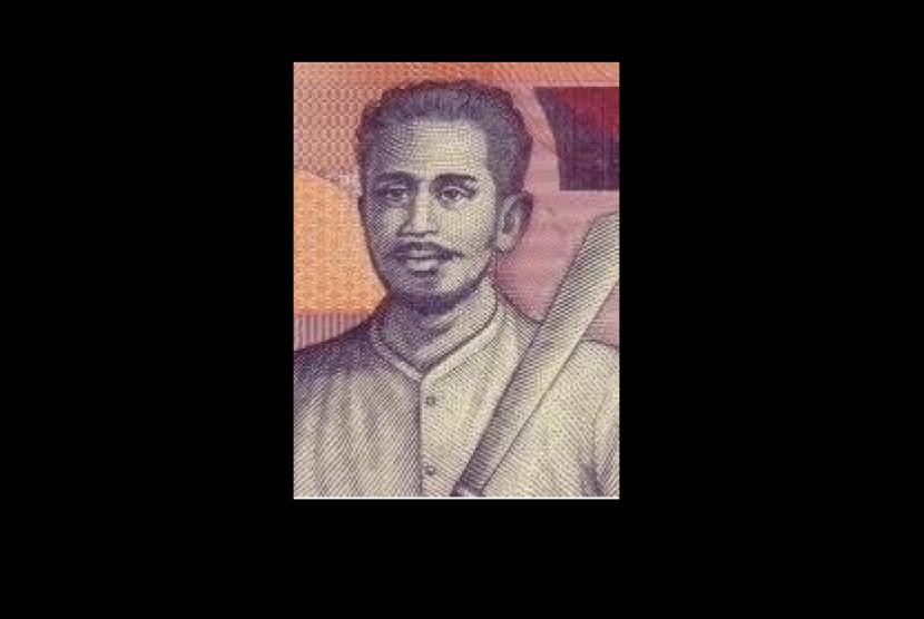 (ilustrasi) gambar Kapitan Pattimura di uang kertas pecahan Rp 1.000