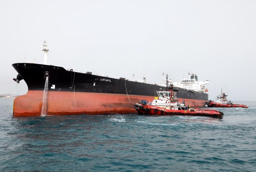 Kapal tanker (Ilustrasi)