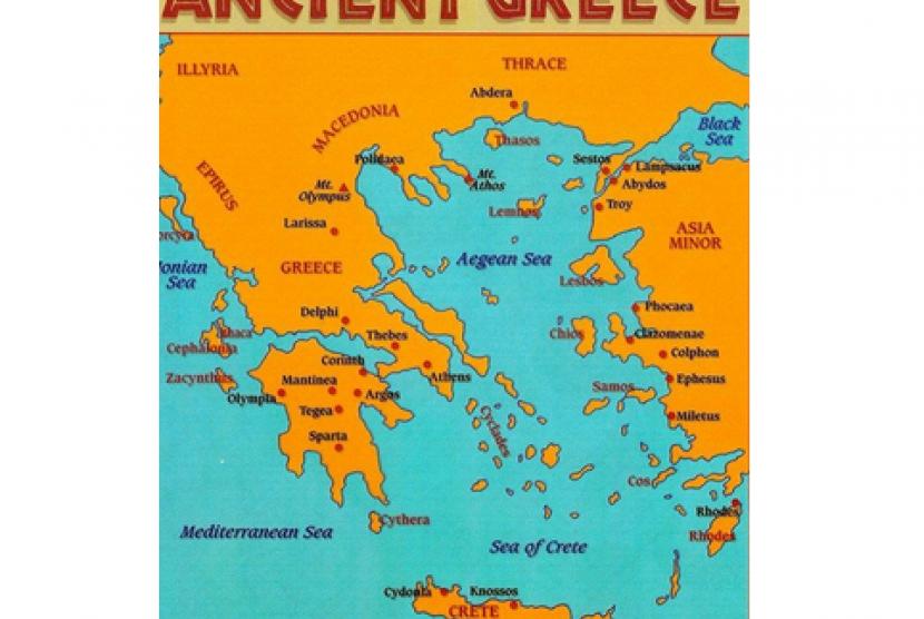 (ilustrasi) lokasi gempa bumi zaman kuno
