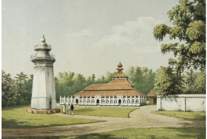 (ilustrasi) Masjid Agung Banten di kesultanan banten abad ke-19