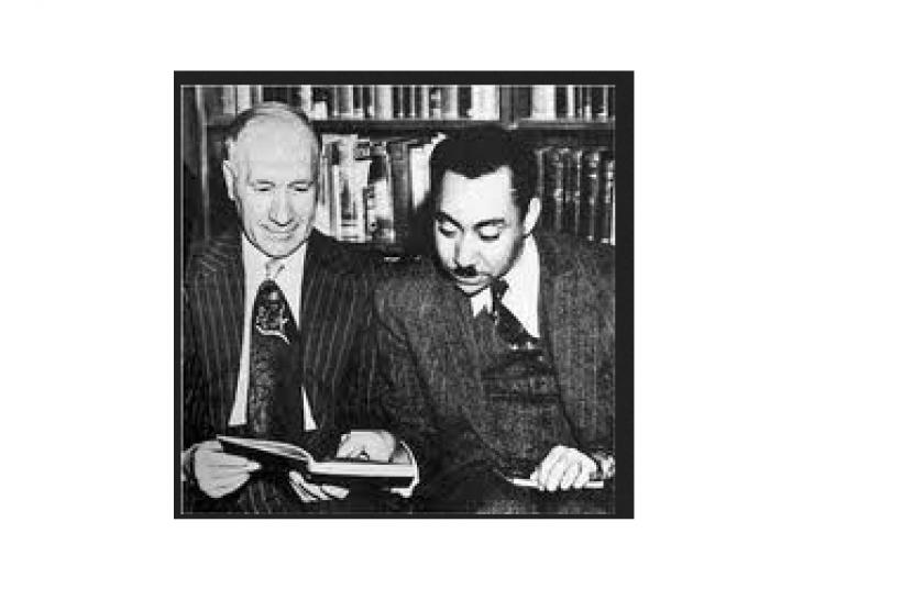 (ilustrasi) Sayyid Qutb (kanan)