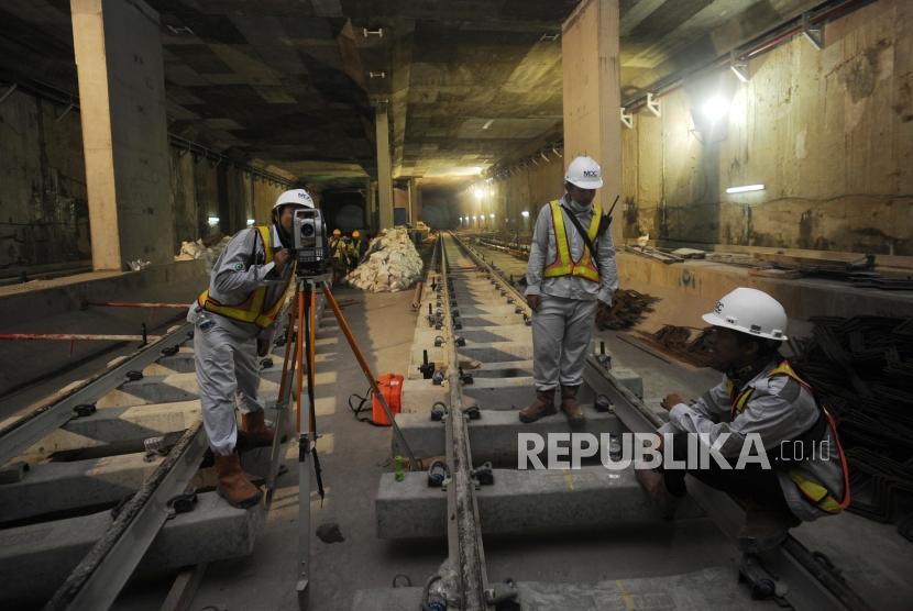Pembangunan MRT, salah satu proyek strategis yang mendapatka support dar PLN
