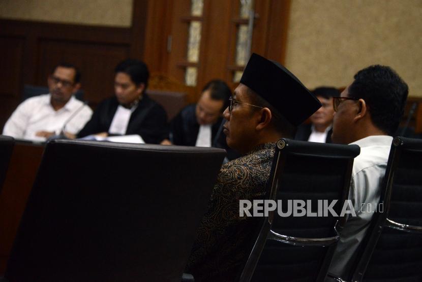 Menteri Agama Lukman Hakim Saifuddin saat menjalani sidang sebagai saksi di Pengadilan Tipikor, Jakarta.