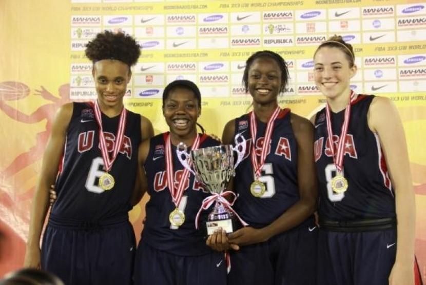 Tim Putri Amerika Serikat Raih Emas di FIBA 3x3 U-18