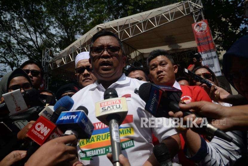 Sekretaris TKN KIK Hasto Kristiyanto