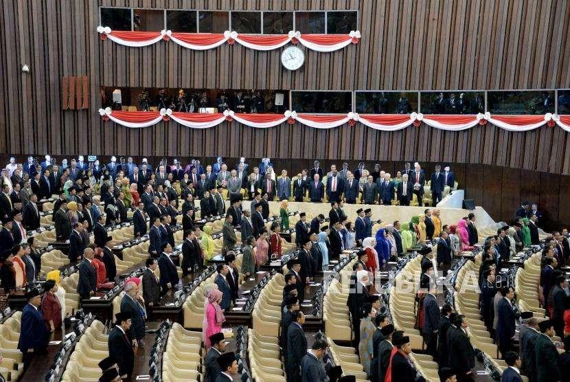 Suasana Sidang Tahunan MPR Tahun 2018 di Kompleks Parlemen, Senayan, Jakarta, Kamis (16/8). (ilustrasi)