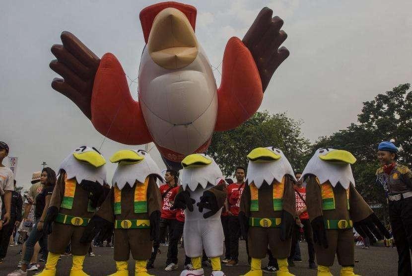 Maskot Asian Para Games 2018 'Momo'.