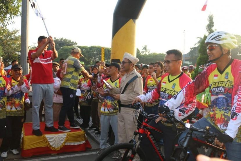 Rayakan HUT RI, Bekasi Gelar Parade Sepeda