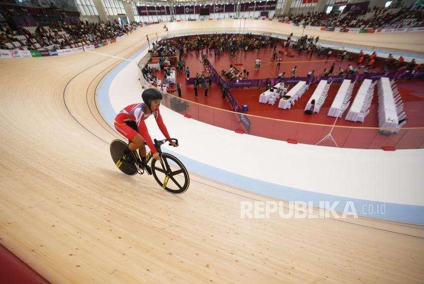 Atlet balap sepeda Indonesia Elga Novanda Kharisma. (ilustrasi)