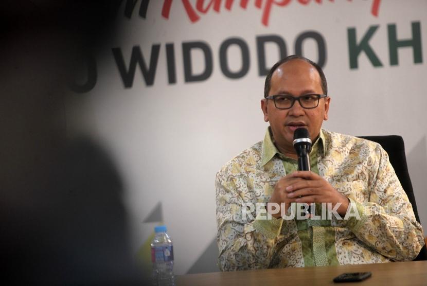 Wakil Ketua Harian Tim Kampanye Nasional Joko Widodo-Maruf Amin, Rosan P Roeslani.