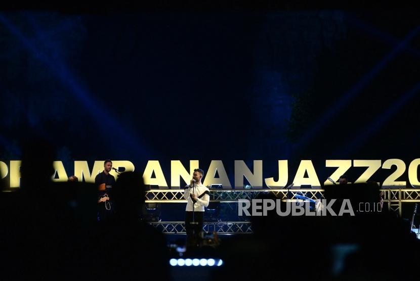 Prambanan Jazz Festival 2019, Sleman, Yogyakarta, Jumat (5/7/2019) malam. Festival musik dan konser masih belum terselenggara dengan penonton langsung sejak pandemi Covid-19.