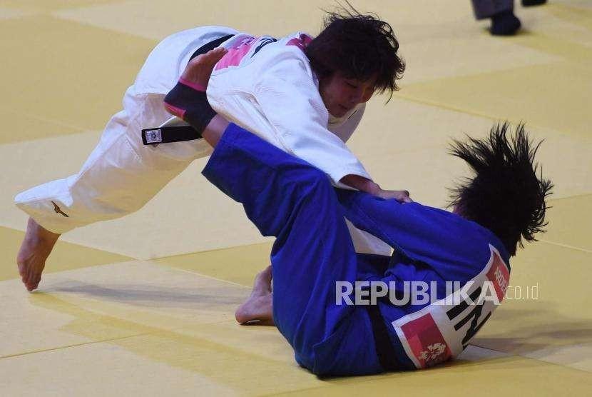 Pertarungan judo di Asian Games 2018. (ilustrasi)