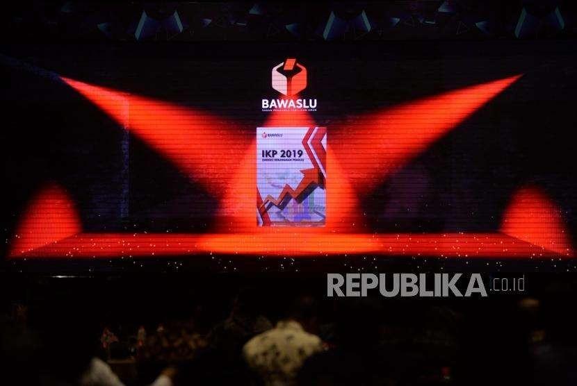Video launching indeks kerawanan pemilu 2019 oleh Bawaslu  di Hotel Bidakara, Jakarta, Selasa (25/9).