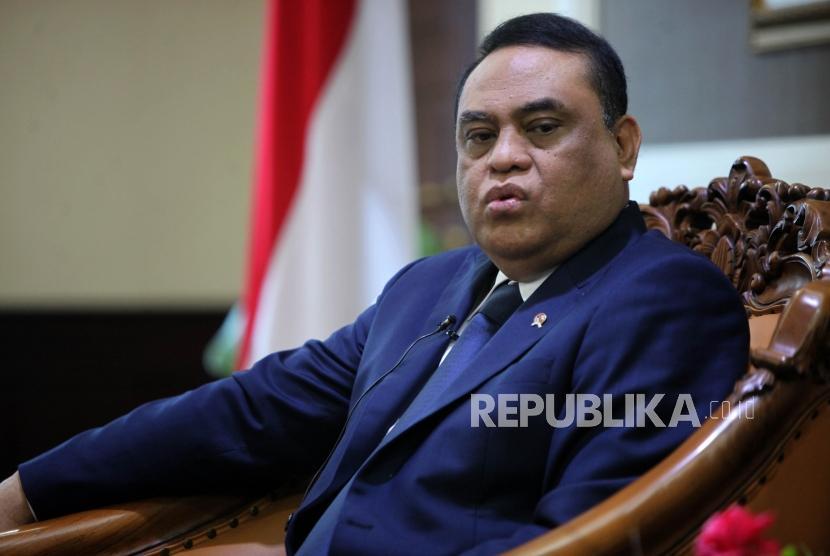 Pembina klub Persija Jakarta Komjen Polisi (Purn.) Syafruddin.