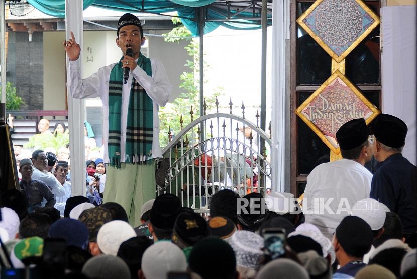 Ustaz Abdul Somad saat menyampaikan tausiyah (Ilustrasi)