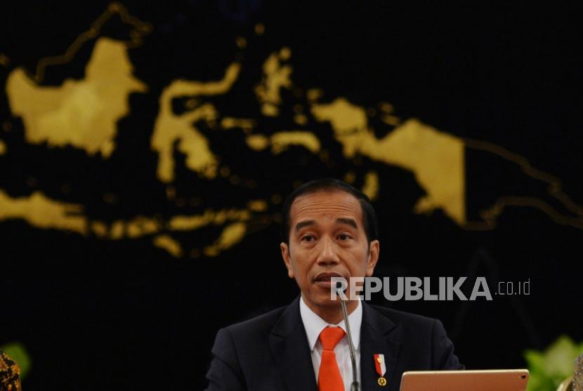 President Joko Widodo announced the relocation of the country's capital at the Merdeka Palace, Jakarta, Monday (26/8).