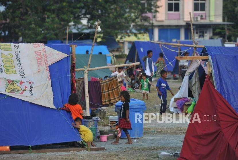 Refugee camp at Darussalam Grand Mosque, Palu, Central Sulawesi, Wednesday (Oct 10).