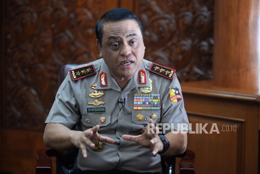 Wakil Kepala Kepolisian Republik Indonesia (Wakapolri) Komjen Pol Syafruddin