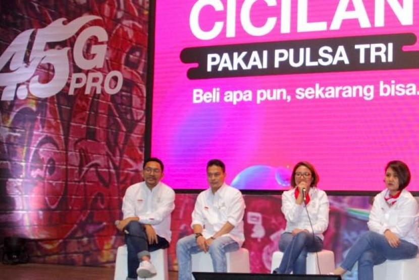 Luncurkan #CicilanPakaiPulsa, Sekarang Beli Kuota Tri Bisa Dicicil. (FOTO: Tri Indonesia)