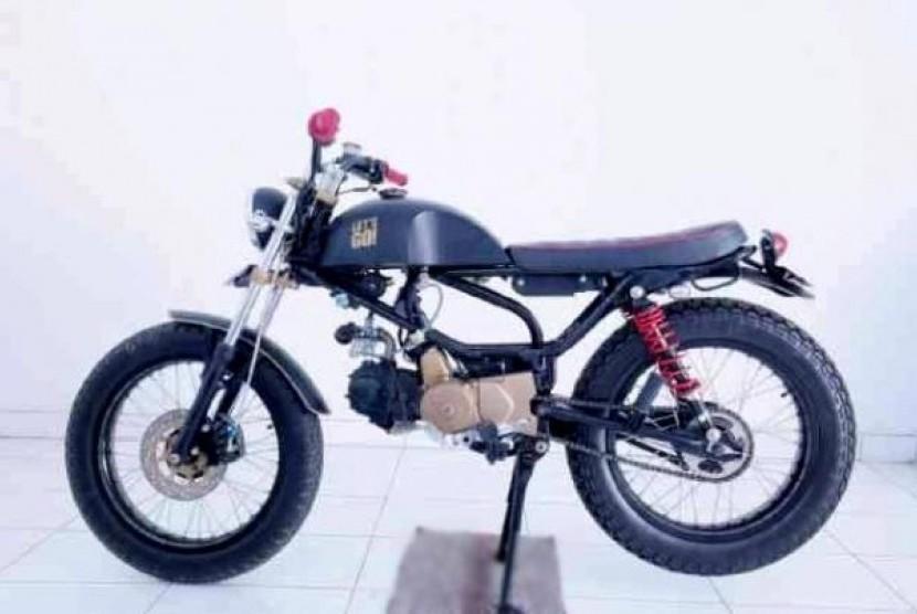 Nih Honda Grand 1990 Bergaya Scrambler Republika Online