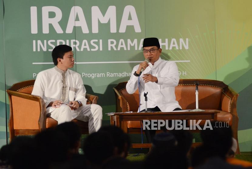 Kepala Staf Kepresidenan Indonesia, Jenderal TNI (Purn) Moeldoko hadir pada acara Inspirasi Ramadhan (Irama) di Masjid Salman Institut Teknologi Bandung (ITB), Kota Bandung, Selasa (29/5).