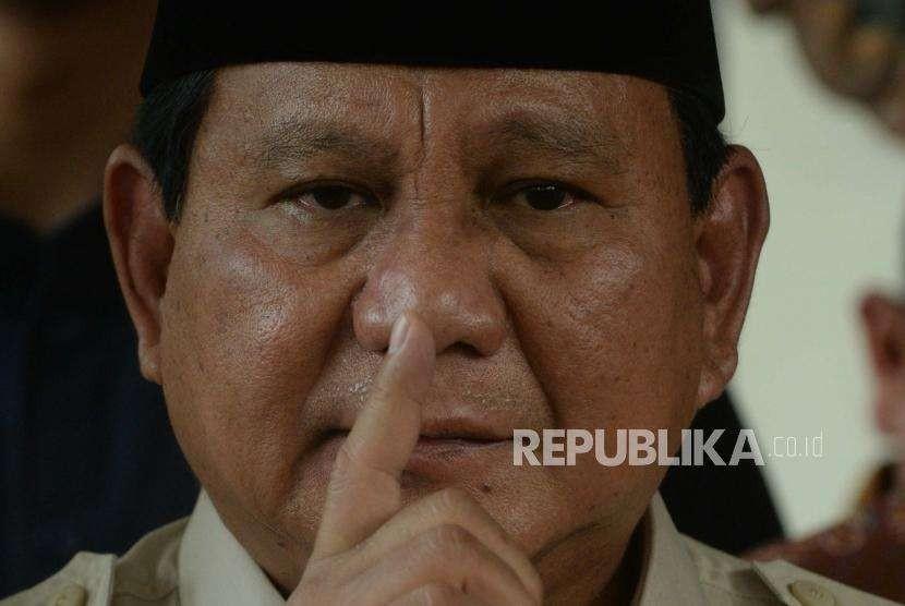 Bakal calon Presiden Indonesia, Prabowo Subianto.