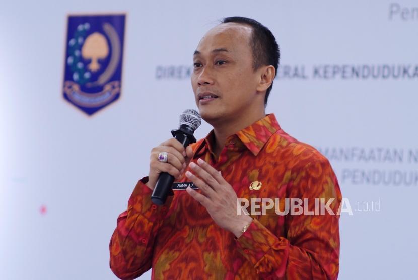 Direktur Jenderal Kependudukan dan Pencatatan Sipil Kementerian Dalam Negeri (Kemendagri) Zudan Arif Fakrulloh