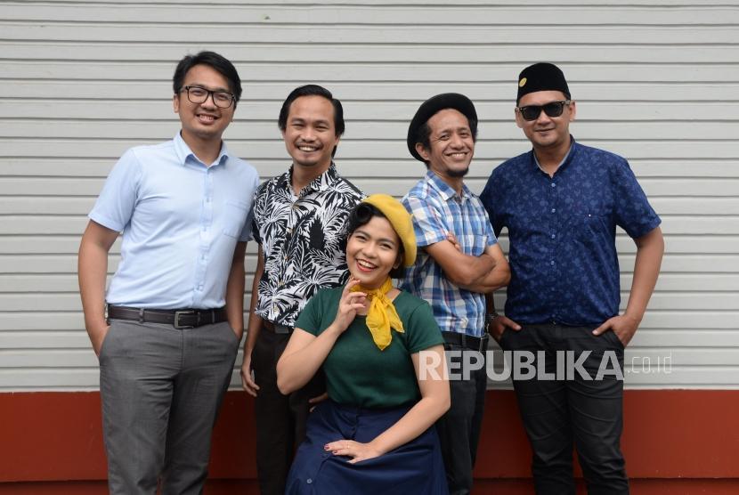 Grup Band Deredia saat berkunjung ke kantor Republika.