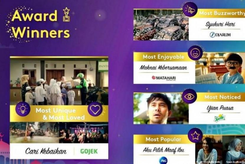 Iklan Go-Jek Cari Kebaikan Menangkan Penghargaan Most Loved. (FOTO: Kantar Indonesia)
