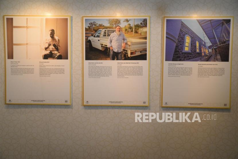Karya foto yang pamerkan dalam Pameran Foto Daratan Tak Bertepi di Museum Sejarah, Jakarta