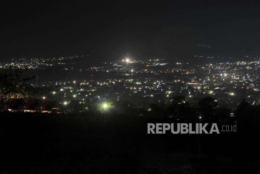 Palu city seen from Balaroa, Palu, Central Sulawesi, Monday  (Oct 8).