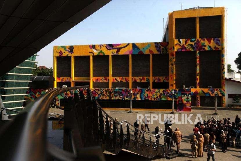 Salah satu sudut di Taman Ismail Marzuki, Jakarta, Senin (10/9).
