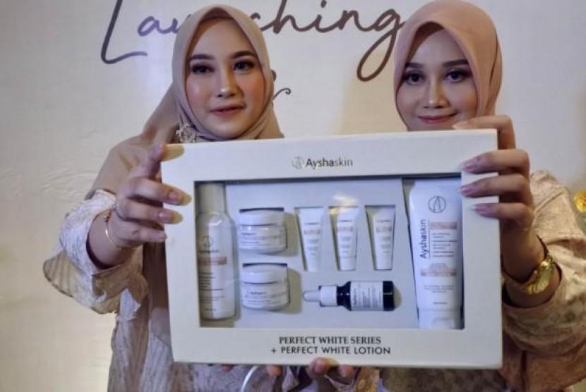 Andalkan Medsos, Ayshaskin Siap Bersaing di Pasar Kosmetik Lokal. (FOTO: Mochamad Ali Topan)