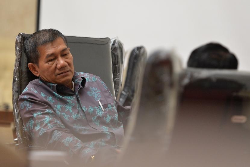 Ketua Pansus Angket KPK Agun Gunandjar Sudarsa berada di Ruang Rapat Pansus Hak Angket KPK, Kompleks, Parlemen, Senayan, Jakarta, Kamis (26/10).