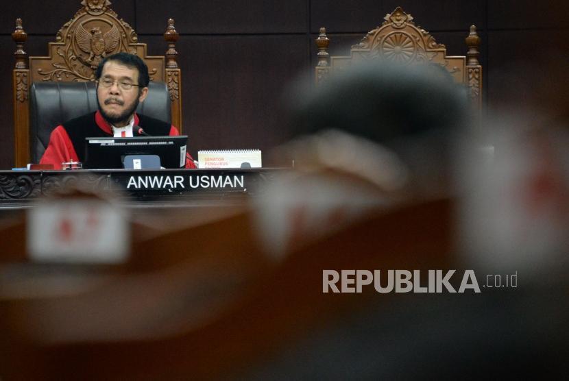Ketua Majelis Hakim Mahkamah Konstitusi (MK) Anwar Usman.
