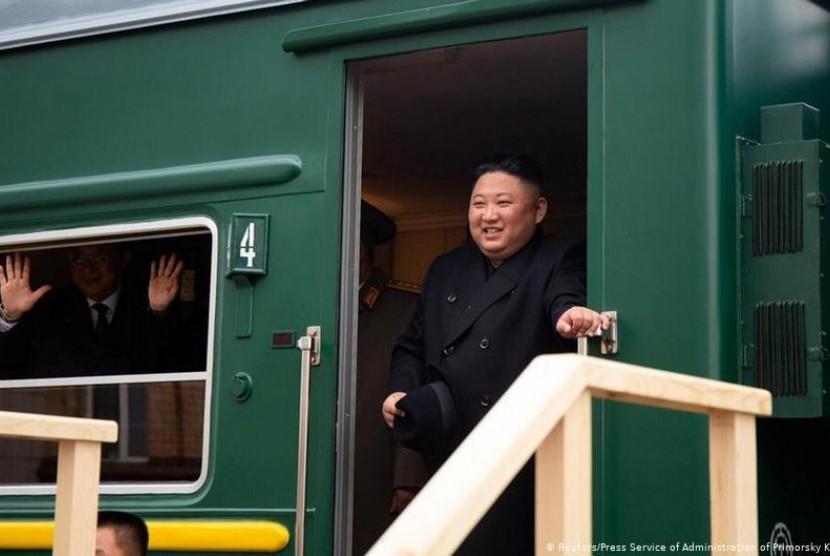 Pimpinan Korut Kim Jong Un Tiba di Rusia Untuk Temui Putin